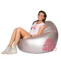 Кресло-мешок из экокожи Серебристое в интерьере